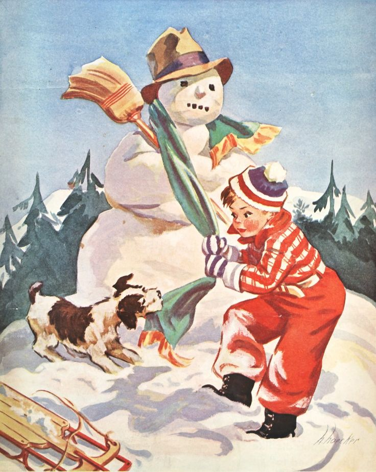 94 Best Vintage Snowmen Images On Pinterest Christmas