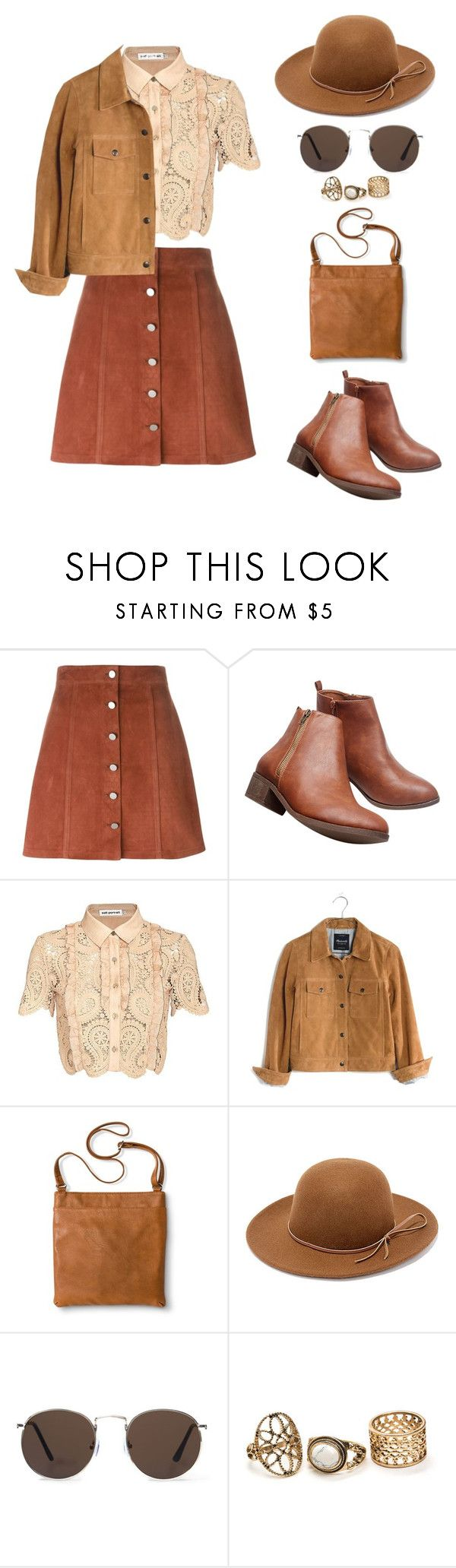 """Geen titel #413"" by melissa-klink ❤ liked on Polyvore featuring Theory, Wet Seal, self-portrait, Madewell, Merona, Rhythm. and MANGO"