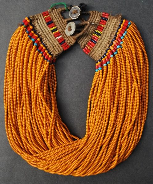 Naga Necklace made of glass beads from the Konyak Tribe, Nagaland, north-eastern part of INDIA