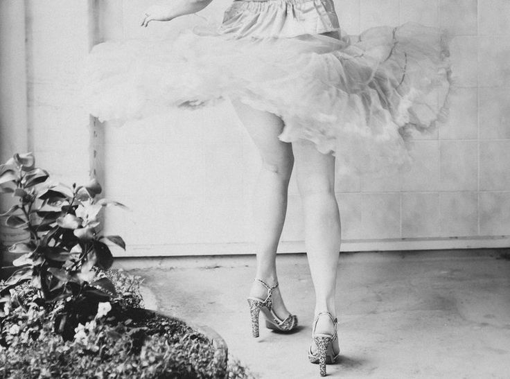 Cute, Twirling Tutu, Sparkling Heels, Legs, Black and White. Fine Art Women's Portraiture Photography By Novella.
