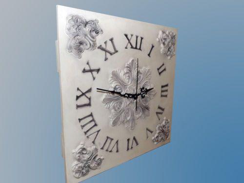 Orologio da Parete Shabby Chic vintage Rustico Art design Wood Wall Clock in Casa, arredamento e bricolage, Orologi e sveglie, Da parete | eBay