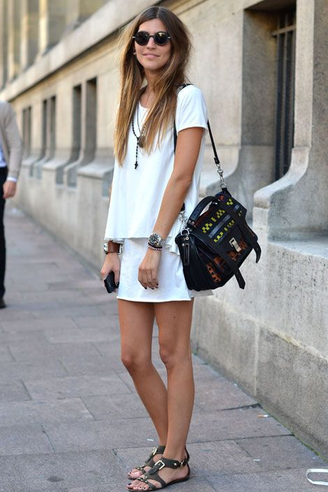 Play up white on white with great accessories!