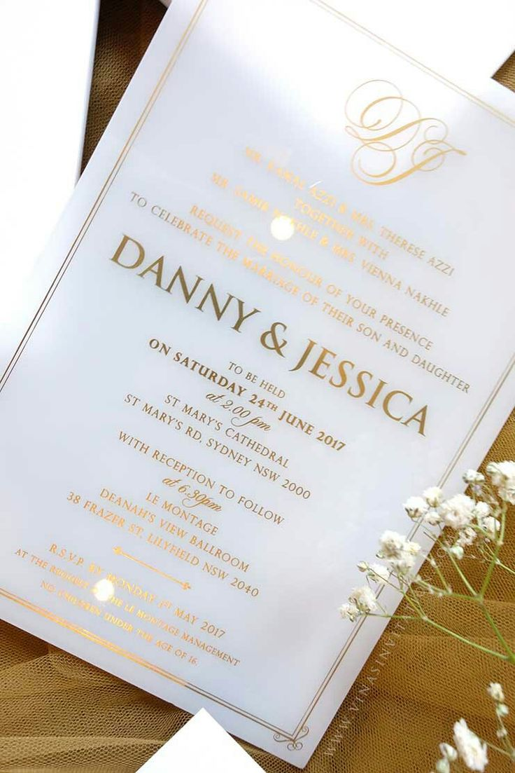 77 best Acrylic Wedding Invitation images on Pinterest