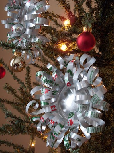 DIY Soda can ornaments. However, I would do mine with ...