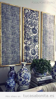 Decoración de paredes con cuadros de tela 4