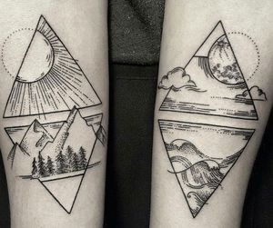 unique geometric tattoos