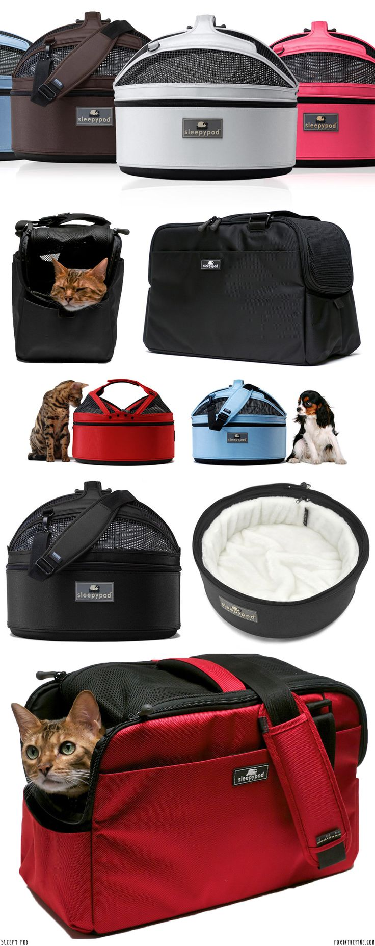 Sleepy Pod   //   small pet carriers   //   FOXINTHEPINE.COM