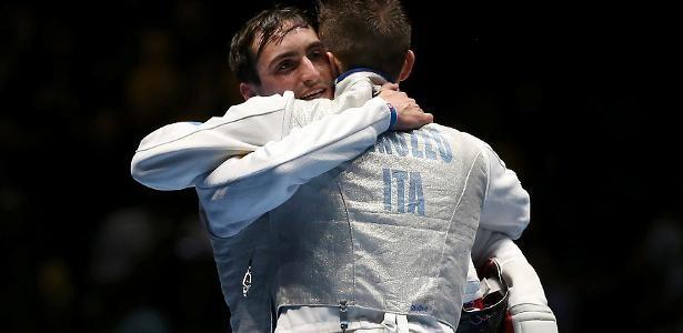 Guilherme Toldo and  Daniele Garozzo. Arena Carioca 3. Olympics Rio2016