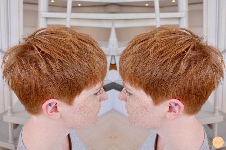 Kort busig frisyr med underbar hårfärg // Short hairdo with awesome haircolor!