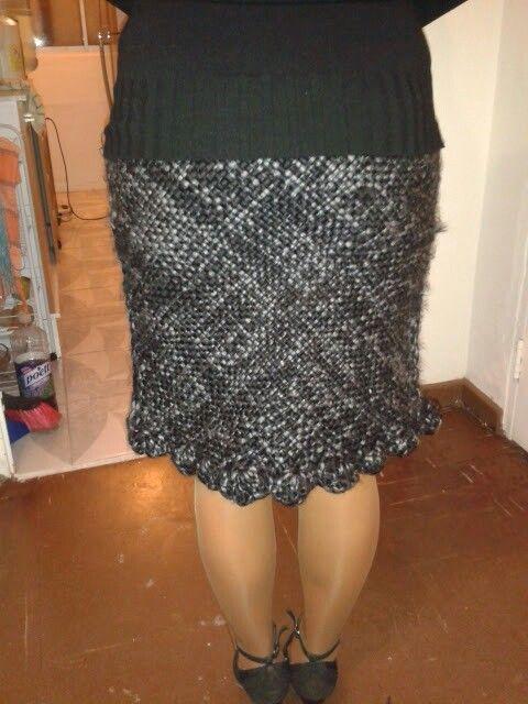 Falda hecha telar