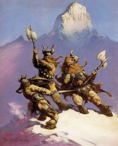 Frank Frazetta:  Conan of Cimmeria takes me right back to being 10 and staring at my big brothers collection of Conan paperbacks for hours. Happy days.