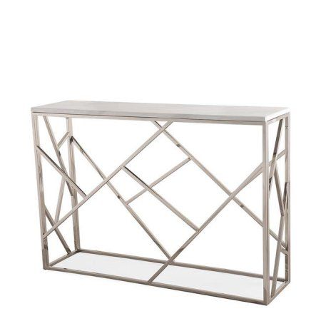 TOV Furniture TOV-OC3744 Gayle Silver Console Table - 30.7 x 45.3 x 11.8 in.
