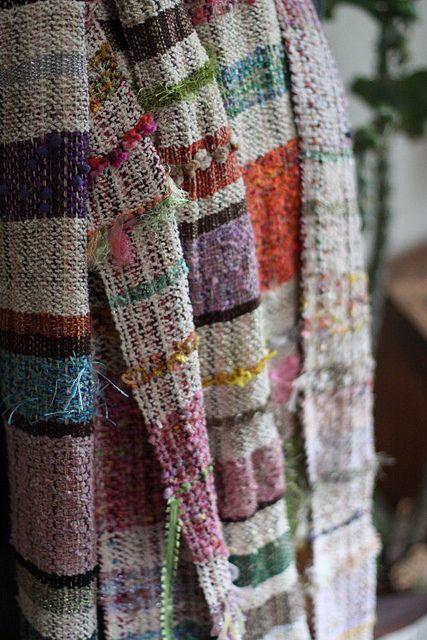 Handwoven textile by weaver Furuta Miyuki. via koron007 on flickr