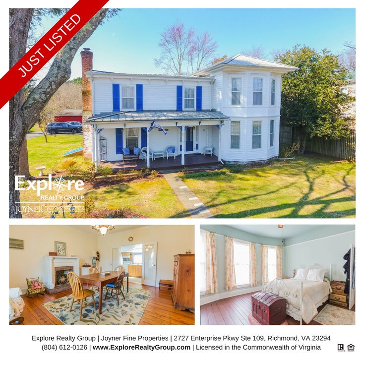 JUST LISTED in the Heart of Bowling Green!  244 N Main St, Bowling Green, VA 2,848 SQFT | 4 BD | 2 BA $282,500