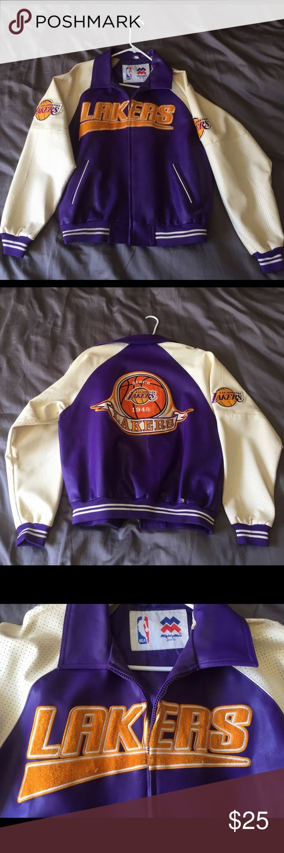 Vintage Laker Jacket Vintage Laker Jacket, well used with a couple cuts & bruises NBA Jackets & Coats Performance Jackets