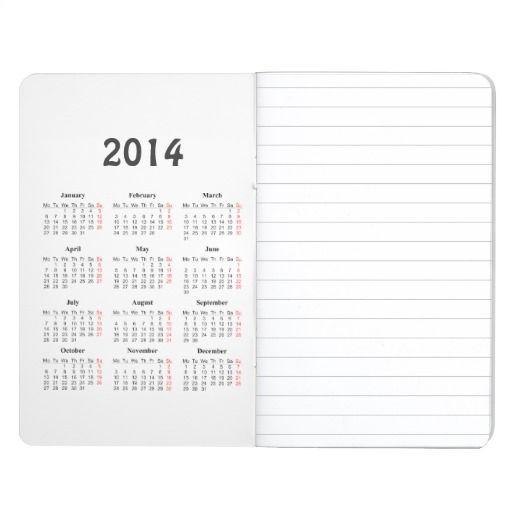 template Journal with 2014 calendar