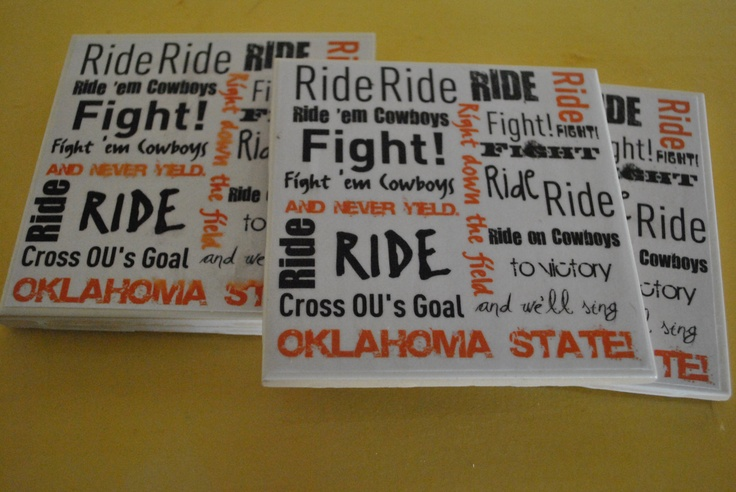 Oklahoma State University Fight Song Coasters by OklahomaPride, $15.00