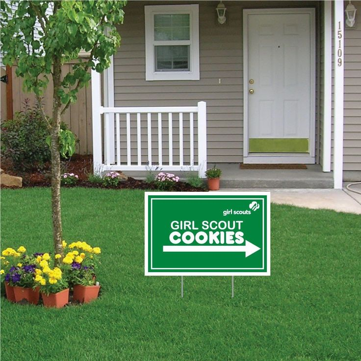 "12""x18"" Girl Scout Cookie Corrugated Plastic Sign"