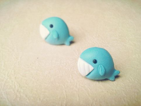 Whale Polymer Clay DIY Earrings