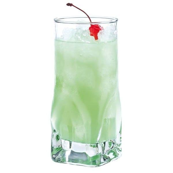 Έξι ποτήρια γυάλινα υψηλής αντοχής σχέδιο Quartz, για νερό και χυμό, με μοντέρνο σχέδιο.