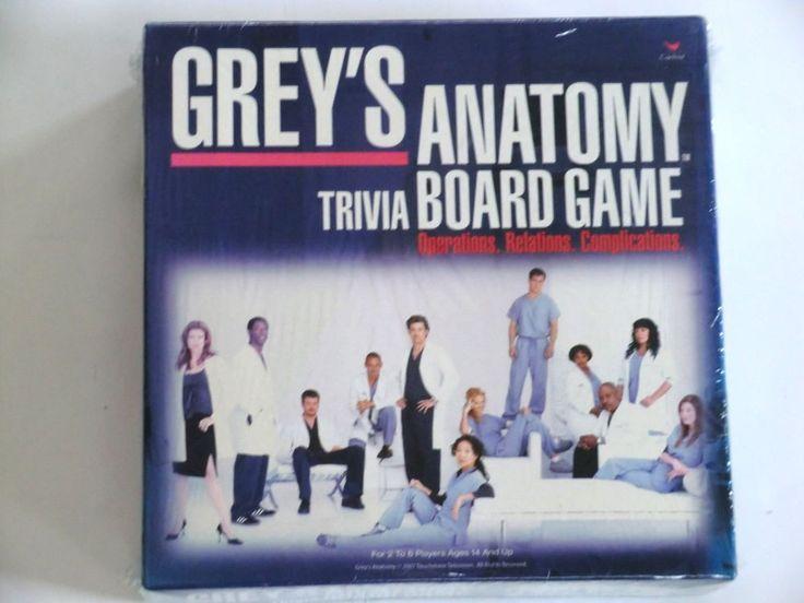 Greys Anatomy Trivia Board game new sealed in 1990-Now | eBay