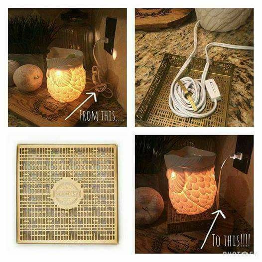 Scentsy's cord concealing warmer stands NEW for winter 2017 #scentsbykris