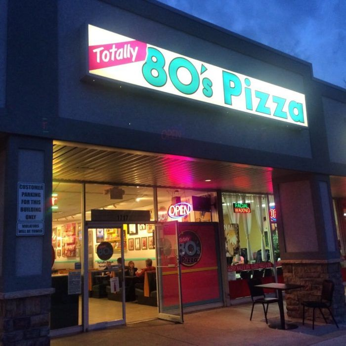 Located in Fort Collins is that of Totally 80s Pizza, which combines delicious pizza, beer, apps, and -- you guessed it -- 1980s nostalgia!