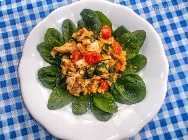Kuracie prsia so špenátom a s červenou šošovicou (fotorecept) - Recept