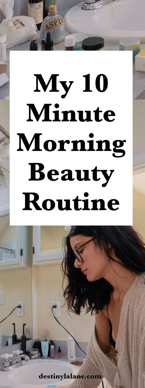 10 minute all natural beauty routine | #naturalbeauty #beautytips | destinylalane.com