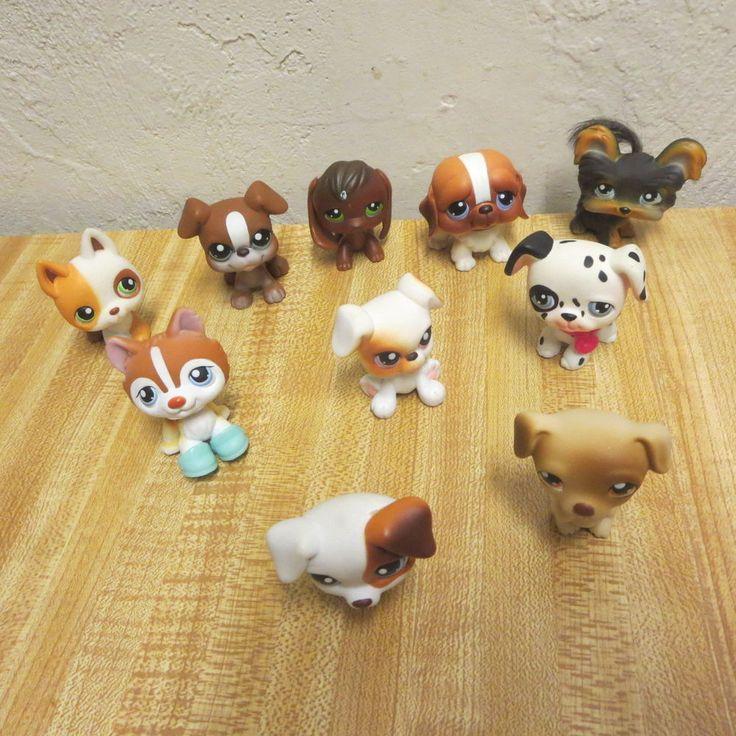 Rare LPS Littlest Pet Shop Dog Figure Lot Of 10 #Hasbro