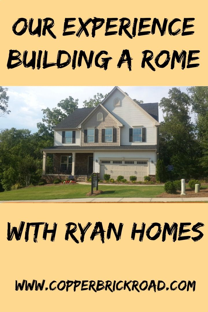 Our Experience Building A Ryan Homes Rome In Elevation N - Started 7-6-16