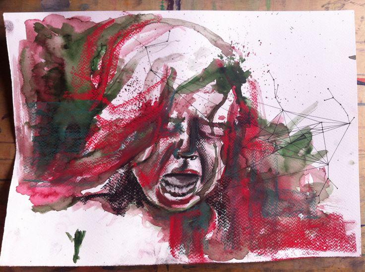 pain, watercolor paint, art
