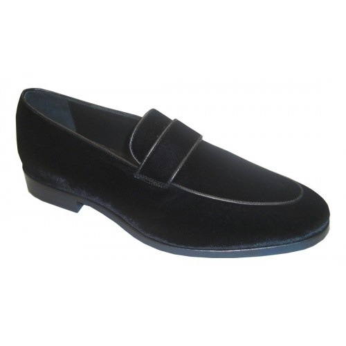 Arfango loafer in black velvet
