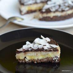 Kokosovo-banánový RAW dort