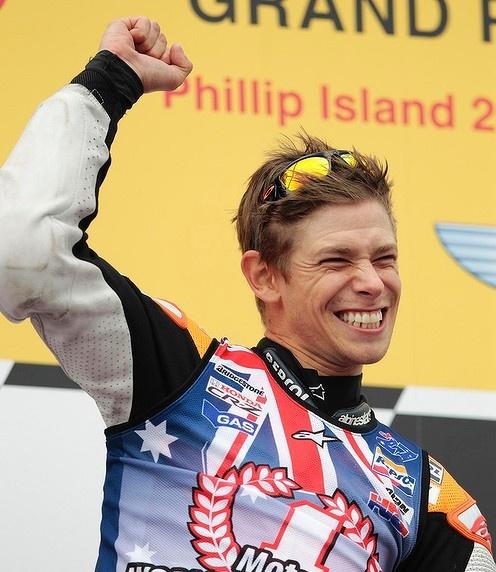 Casey Stoner - MotoGP world champion (*source unknown).