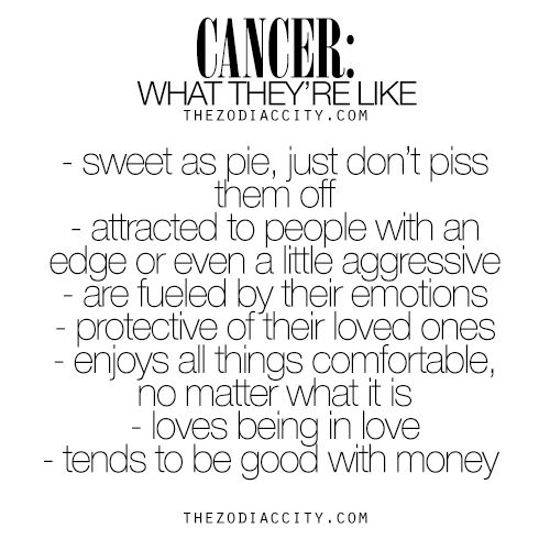 Cancer: What They're Like. For much more on the zodiac signs, click here.