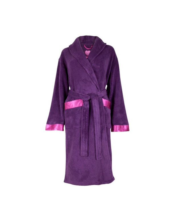 Purple Cosy Fleece Robe