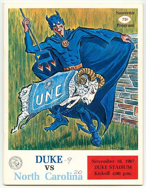 Duke vs. UNC Game Program Cover, Nov. 18, 1967 by Duke Yearlook, via Flickr