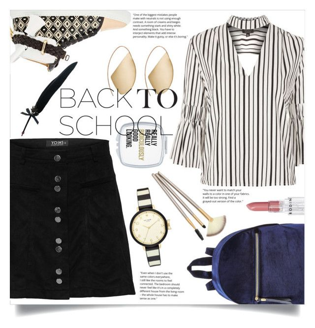 """""""Go Back-to-School Shopping!"""" by katerina1500 ❤ liked on Polyvore featuring Topshop, BUSCEMI, Kate Spade, Ana Khouri, Fountain and Rodin"""