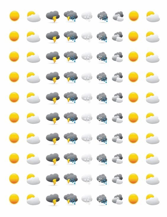 Sweet weather stickers! #planners #organise #plan # ...