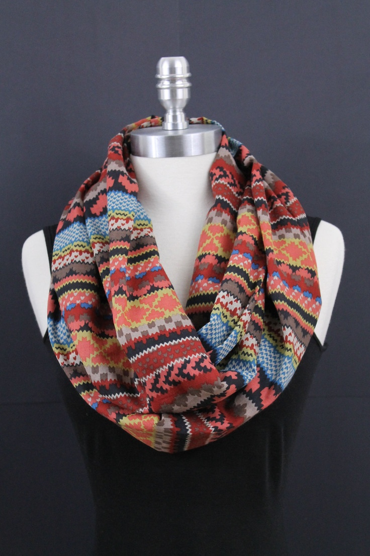 Indian Pattern Infinity scarf