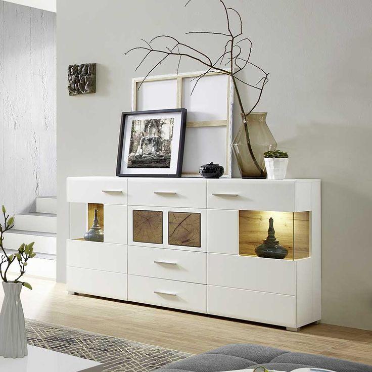 Die besten 25+ Sideboard Dekor Ideen auf Pinterest weiße - h ngeschrank wohnzimmer wei