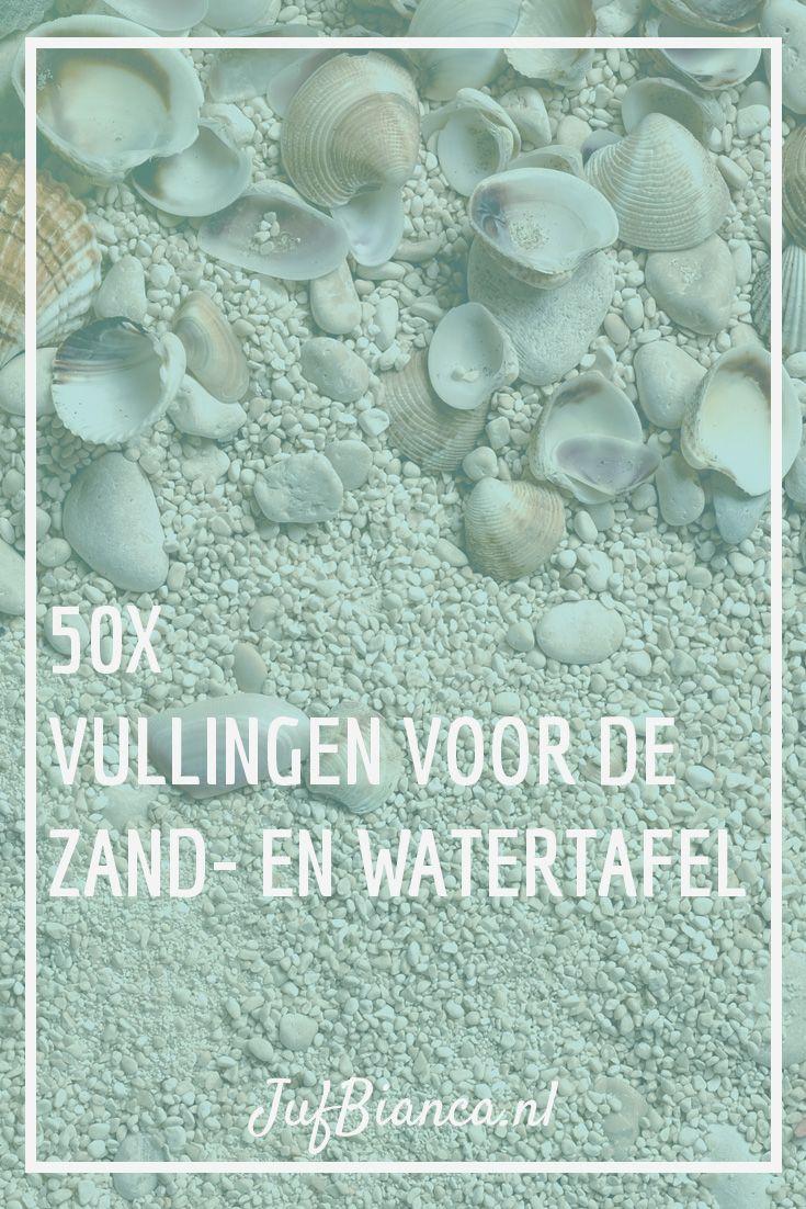 50x vullingen voor de zand- en watertafel