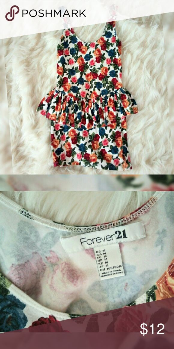 Forever 21 floral dress Super cute floral dress from forever21 Forever 21 Dresses Mini
