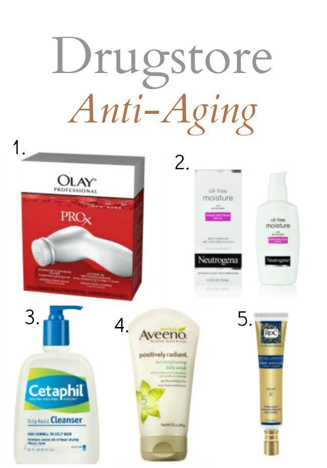 5 Drugstore Anti Aging Products Everyone Over 30 And Smart 20 Somethings Should Hav Drugstore Anti Aging Products Anti Aging Skin Products Skin Care Wrinkles