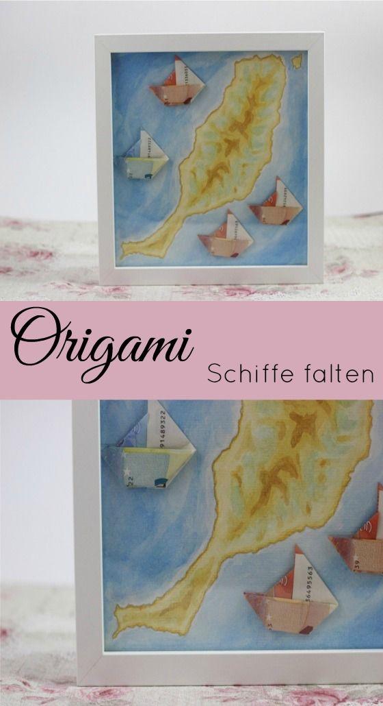 Individuelles Hochzeitsgeschenk - Geldgeschenk zur Hochzeit - Origami Schiffe falten   http://www.the-inspiring-life.com/2016/12/geschenkideen-zur-hochzeit.html