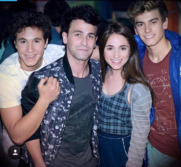 Michae,Agustin,Carolina y Gaston de Soy Luna