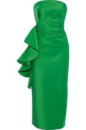 a5a6e3fff2c8a Esma strapless ruffled silk duchese satin-twill midi dress   SACHIN & BABI    Sale up to 70% off   THE OUTNET