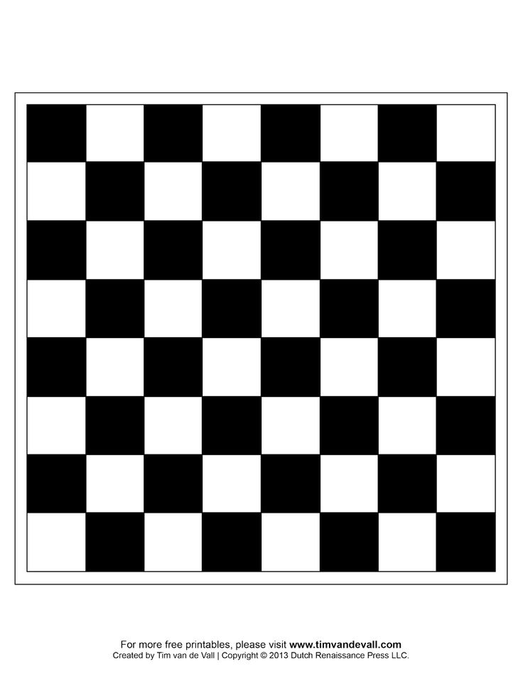 This is a picture of Simplicity Printable Chess Board