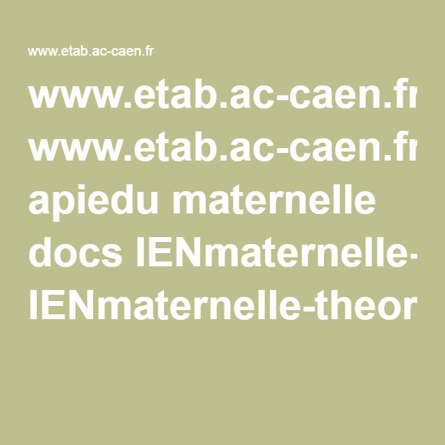 www.etab.ac-caen.fr apiedu maternelle docs IENmaternelle-theorieattachement.pdf